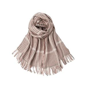 Plaid Warm Womens Woven Scarf