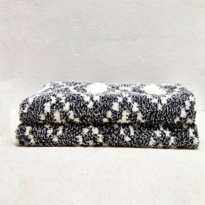 Fluffy Two Tone Chunky Couverture