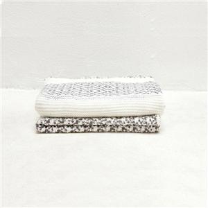 Modern Diamond Pattern Woven Throw Blanket