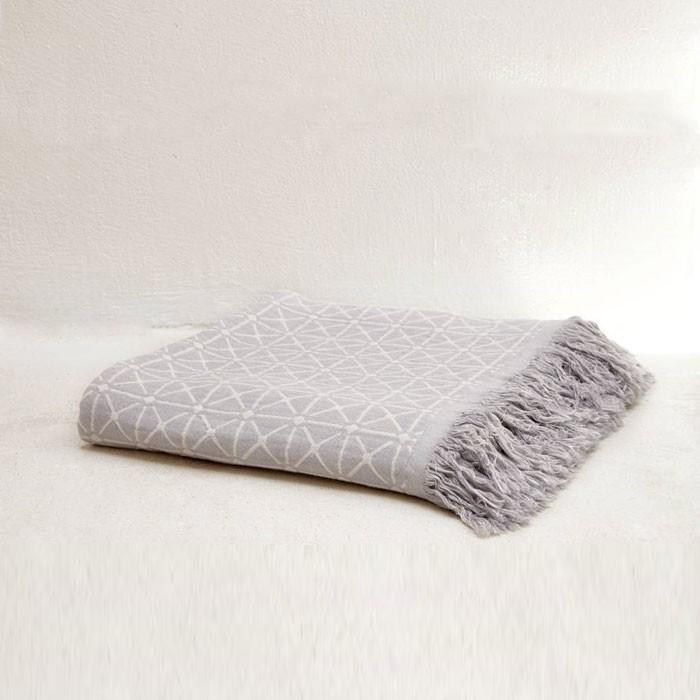 Organic Cotton Cross Plaid Throw Blanket
