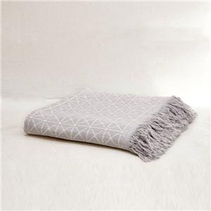 Coperta da plaid in cotone organico a quadri