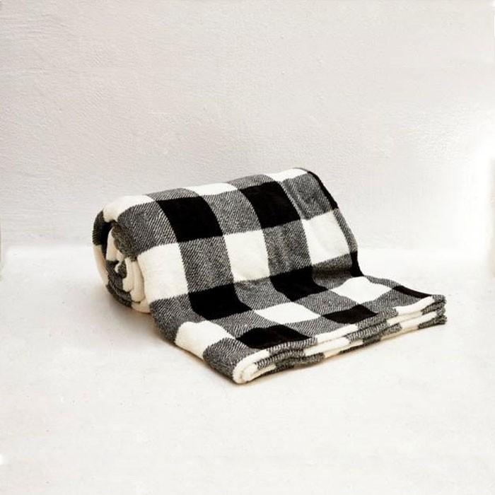 Classic Buffalo Check Plaid Microfiber Throw Blanket