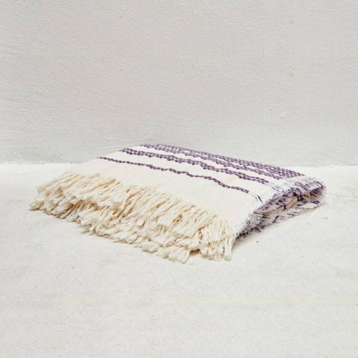 Stripe Decorated Warm Plush Throw Blanket