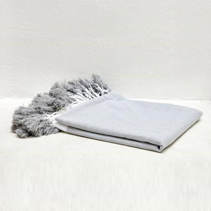 Fresh Grey Color Soft Throw Blanket