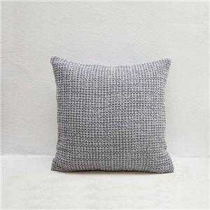 Pure Cotton Plaid Grey Sofa Throw Pillow