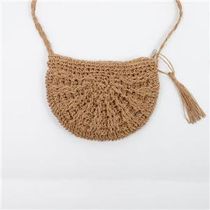 Half Moon Soft Beach Straw Bag