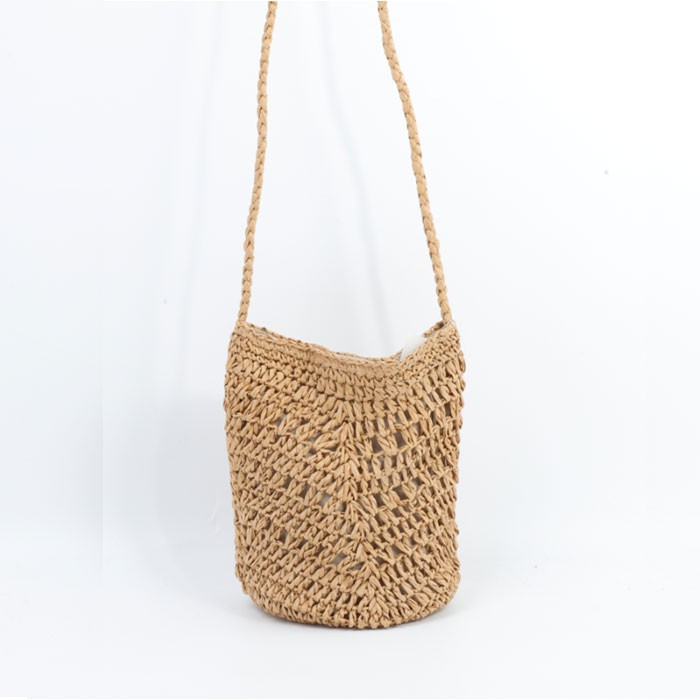 Soft Summer Beach Straw Bag
