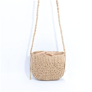 String Closure Summer Straw Shoulder Bag