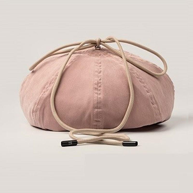 Cotton Ribbon Strap Pumpkin Beret