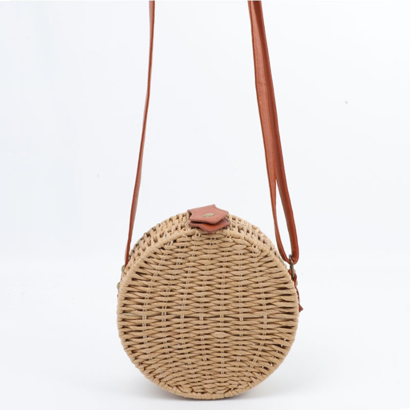 Round Shape Summer Rattan Shoulder Bag