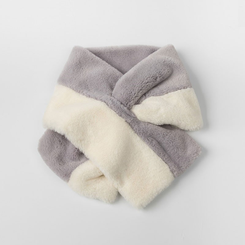 Two Tone morbida Womens sciarpa della pelliccia