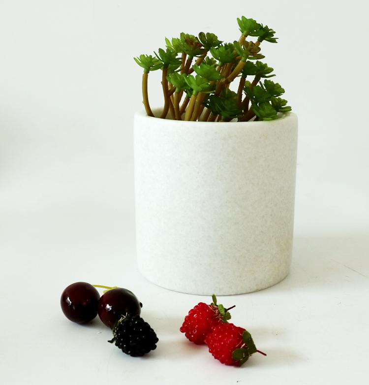Garden stone flower pot