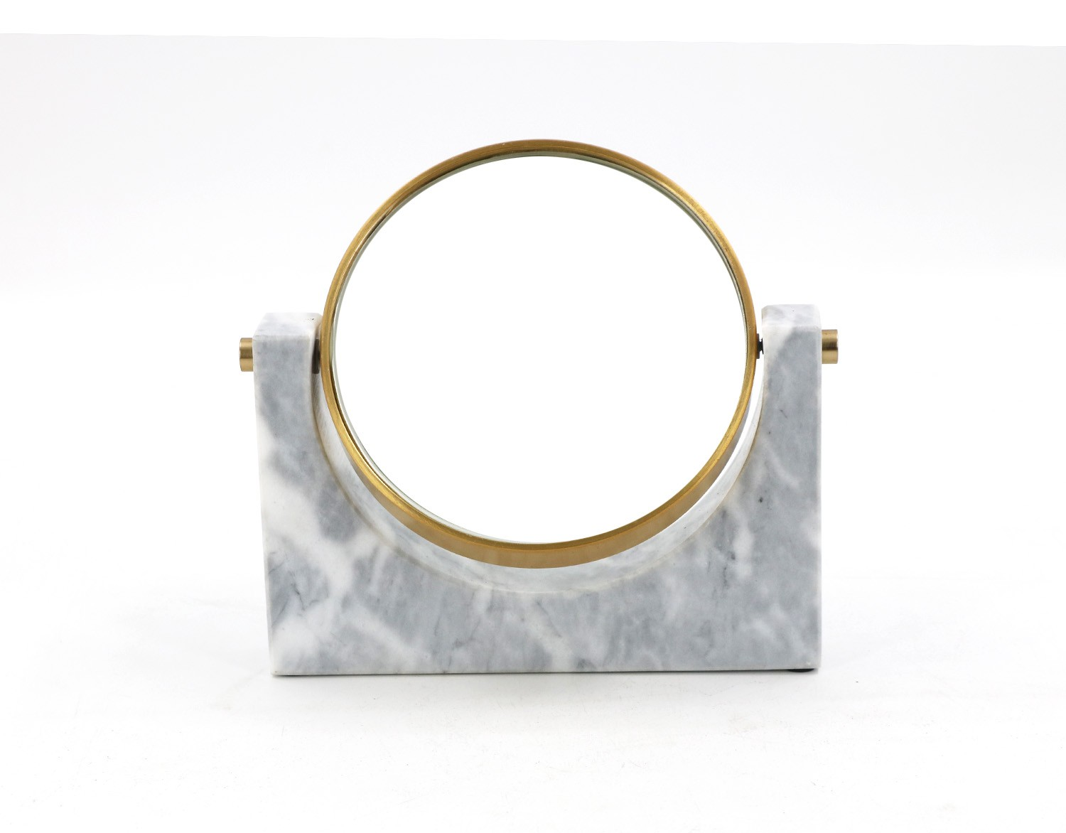 Cheap marble double sided makeup mirror, china marble vanity mirror price