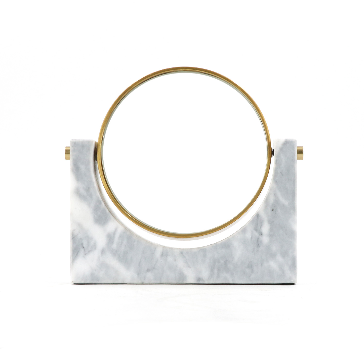 Cheap marble double sided makeup mirror