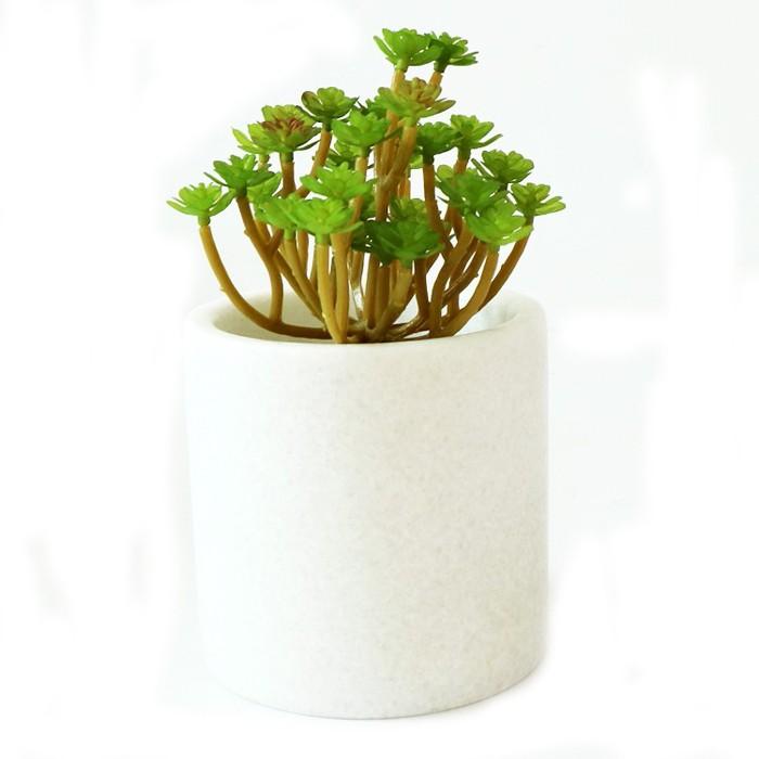 손으로 만든 돌 정원 꽃 냄비
