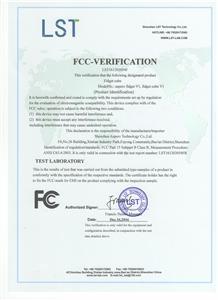 FCC Certificate for Fidget Cube