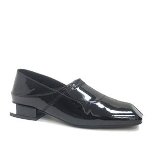 Women Slip On Loafers Black Driving Patent Leather Moccasins Black