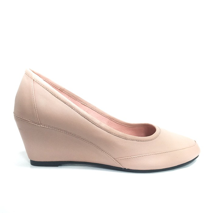 Women Leather Wedge Heel With Closed Toe Luxury Wedge Pump Manufacturers, Women Leather Wedge Heel With Closed Toe Luxury Wedge Pump Factory, Supply Women Leather Wedge Heel With Closed Toe Luxury Wedge Pump