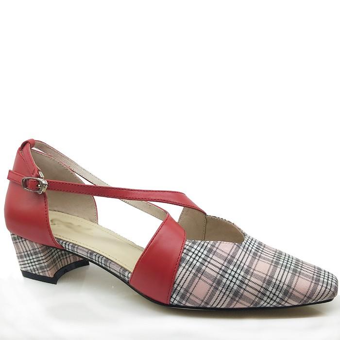 Women Leather Sandals Comfortable Dress Shoes Block Heel