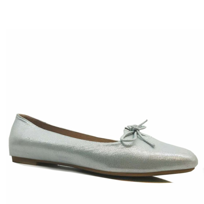 Women Leather Ballet Flat Round Toe With Butterfly Dressy Loafer Shoes