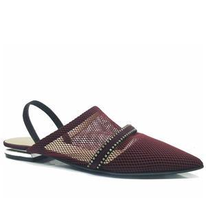 المرأة مش أشار تو شقة مع حزام قابل للتعديل حبال الظهر في أحذية متأنق