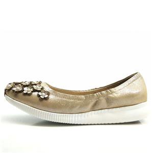Γυναικεία Γλιστράω-επί Μπαλέτο Επίπεδος δέρμα Καπάκι-Δάχτυλο του ποδιού ελαφρύ παπούτσια οδήγησης με λουλούδι