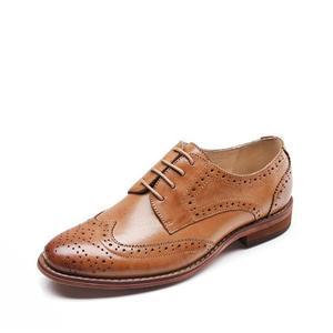 플랫 신발 멋진 옥스포드 신발 여성 가죽 트레 여성 신발 도매