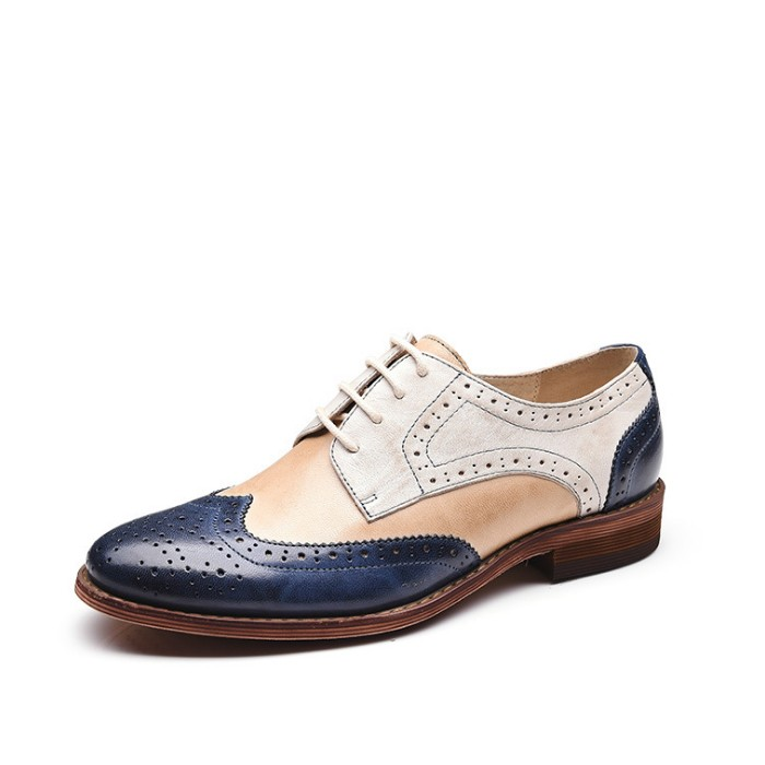 Women's Leather Oxford Lace Up Shoes Flat Womens Designer Oxfords