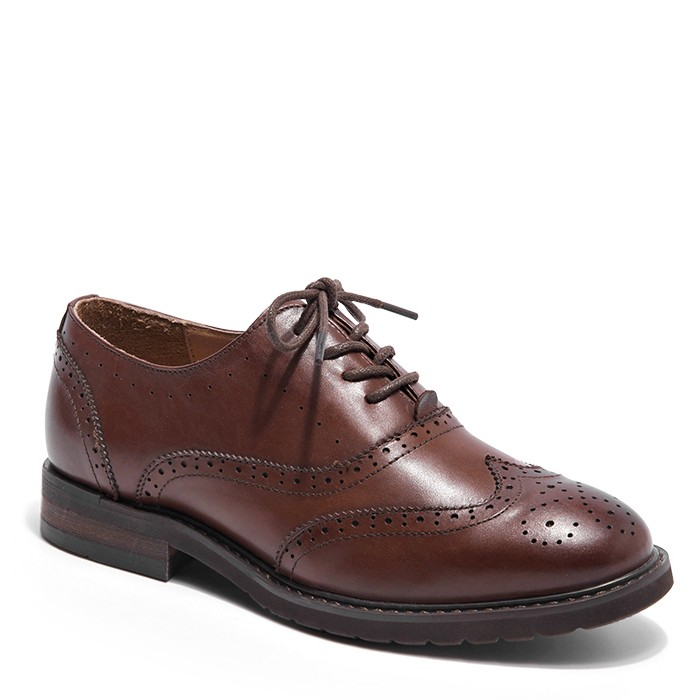 Comfortable Oxford Shoes Womens Flat Leather Lace Up Oxfords Shoes