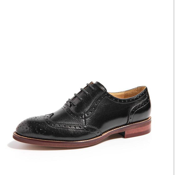 Ladies Oxford Shoes Flats Womens Designer Lace Up Oxfords Leather Shoes