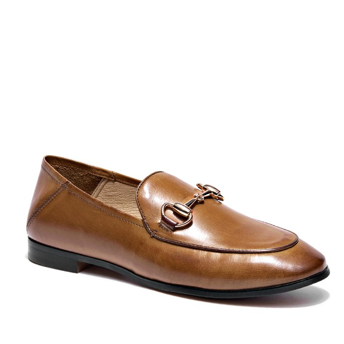 Leather Slip On Shoes For Women Leather Moccasin Loafers