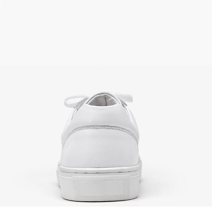 White Leather Running Shoes Round Toe Women Cool White Tennis Shoes Manufacturers, White Leather Running Shoes Round Toe Women Cool White Tennis Shoes Factory, Supply White Leather Running Shoes Round Toe Women Cool White Tennis Shoes