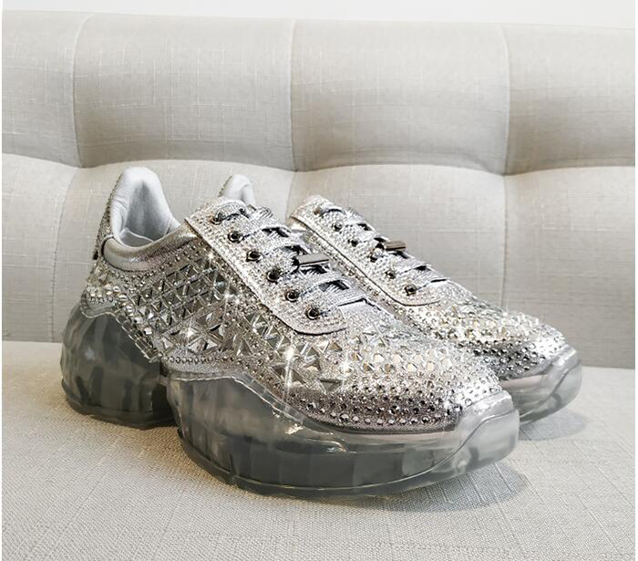 crystal decorative sneakers