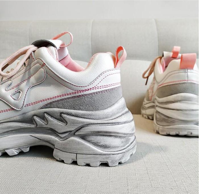 Genuine Leather Mesh Women's Platform Chunky Sneakers Fashion Mesh Casual Footwear Manufacturers, Genuine Leather Mesh Women's Platform Chunky Sneakers Fashion Mesh Casual Footwear Factory, Supply Genuine Leather Mesh Women's Platform Chunky Sneakers Fashion Mesh Casual Footwear