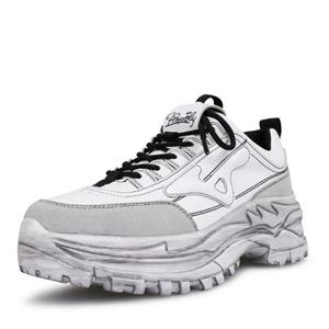 Genuine Leather Mesh Women's Platform Chunky Sneakers Fashion Mesh Casual Footwear