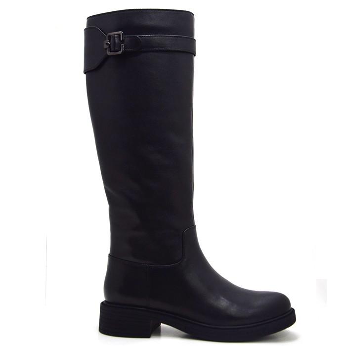 Μαύρες δερμάτινες μπότες μπότες Γόνατο μπότες υψηλών γυναικών