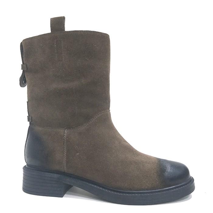 Γυναικεία παπούτσια χεριού Καστόρι πραγματικό δέρμα προβάτων γόνατο επίπεδη χειμωνιάτικες μπούκλες