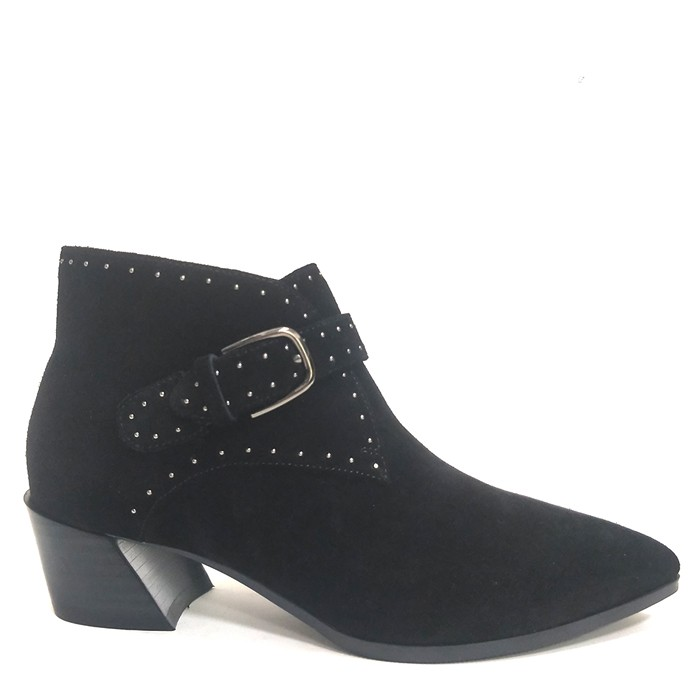 Ladies In Leather Ankle Boots Chunky Heel Slip On Boots Womens Manufacturers, Ladies In Leather Ankle Boots Chunky Heel Slip On Boots Womens Factory, Supply Ladies In Leather Ankle Boots Chunky Heel Slip On Boots Womens