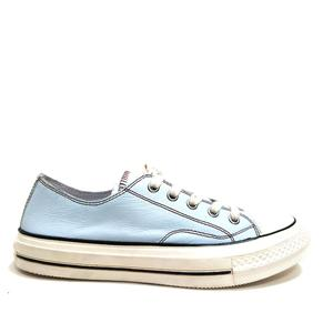 Star Colored Crown Leather Women Lace-up Tennis Sneakers