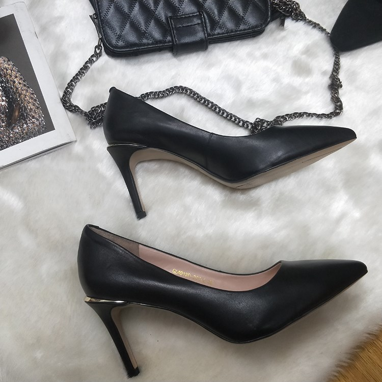 Lady's dress shoes crown leather heels pointed toe pumps Manufacturers, Lady's dress shoes crown leather heels pointed toe pumps Factory, Supply Lady's dress shoes crown leather heels pointed toe pumps