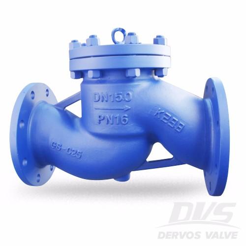 رفع فحص الصمام GSC25 DN150 PN16 الترددات اللاسلكية DIN 3356