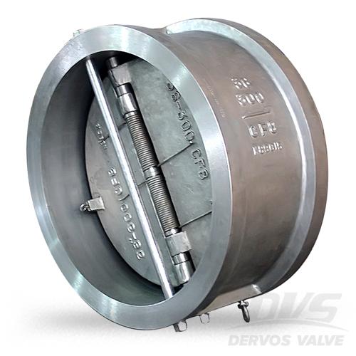 CF8M dual plate check valve