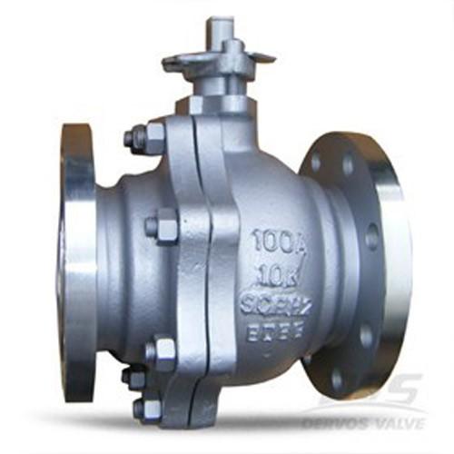 JIS сферичен клапан SCPH2 10K 100A с две части