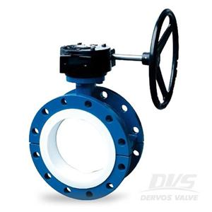 Double Flanged Butterfly Valve PTFE Lined GGG40 DN300
