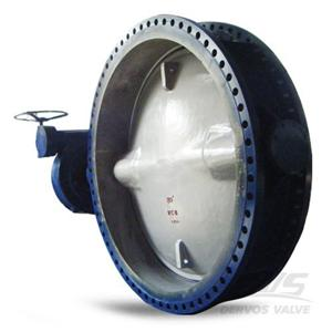 EN593 Concentric Butterfly Valve DN2000 PN6 WCB Gearbox