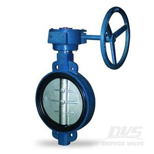 ISO 5752 Wafer Butterfly Valve DN150 PN10 GG25 Gearbox