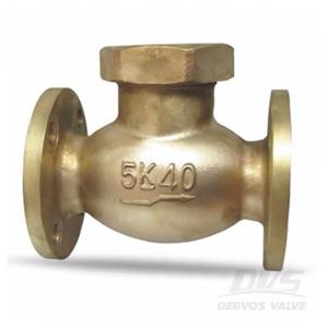 Bronze Marine Check Valve DN40 5K FF Flange JIS F7371