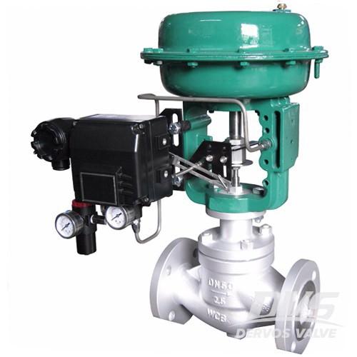 Пневматичен контролен клапан с въглеродна стомана DN50 PN25 RF