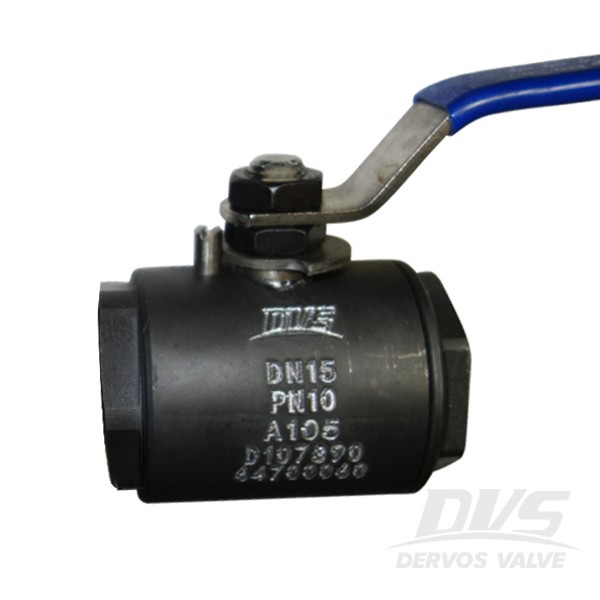 Forged Steel A105 NPT Connection Way 2 Pieces Full Pore Lever Floating Ball Valve DN15 PN16