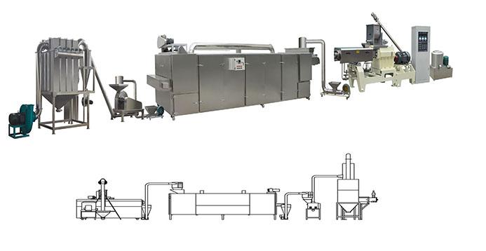 nutritional powder food extruder machine